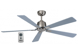 AIR ELITE DC SILVER 5 BLADE CEILING FAN INC REMOTE