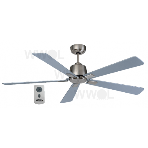 AIR ELITE DC SILVER FIVE BLADE CEILING FAN INC REMOTE