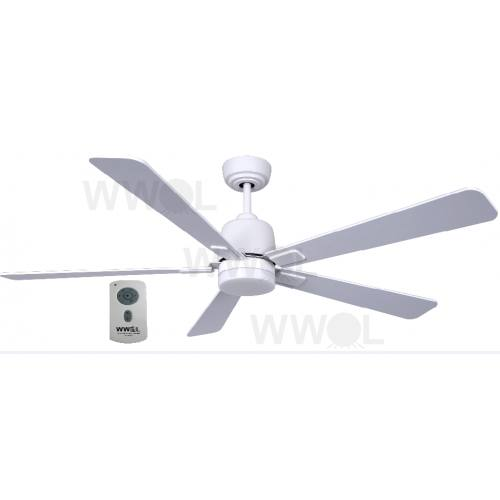 AIR ELITE DC FIVE BLADE WHITE CEILING FAN INC REMOTE INC LED LIGHT