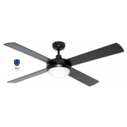 AIR FLIGHT 130CM MATT BLACK CEILING FAN 2 X B22 LIGHT REMOTE PACKAGE