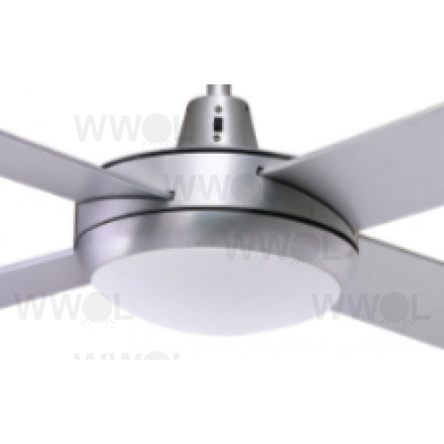 Air flight 130cm brushed aluminium with fluoro light ceiling fan aloadofball