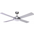 CONTEMPORARY 130CM BRUSHED ALUMINIUM WITH FLUORO LIGHT CEILING FAN