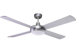 AIR FLIGHT 130CM BRUSHED ALUMINIUM WITH FLUORO LIGHT CEILING FAN