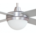 AIR FLIGHT II 130CM BRUSHED ALUMINIUM CEILING FAN TWO LIGHT REMOTE PACKAGE