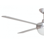 AIR FLIGHT II 130CM BRUSHED ALUMINIUM WITH TWO LIGHT CEILING FAN