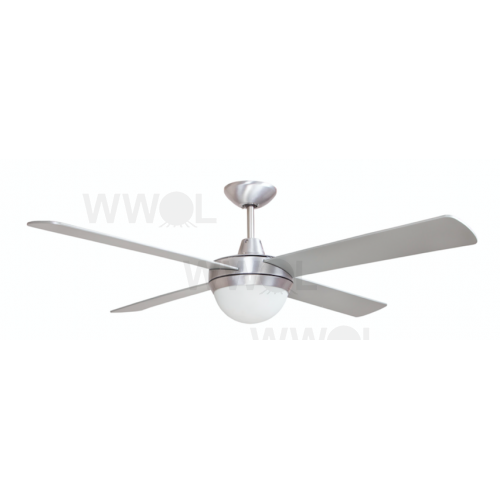 AIR FLIGHT II 130CM BRUSHED ALUMINIUM + ABS BLADE WITH TWO LIGHT CEILING FAN
