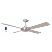 AIR FLIGHT II 106CM BRUSHED ALUMINIUM CEILING FAN REMOTE PACKAGE