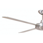 AIR FLIGHT II 130CM BRUSHED ALUMINIUM CEILING FAN REMOTE PACKAGE