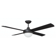 AIR FLIGHT II 120CM MATT BLACK WITH TWO LIGHT CEILING FAN