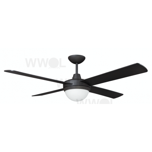 AIR FLIGHT II 130CM MATT BLACK WITH TWO LIGHT CEILING FAN