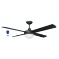 AIR FLIGHT II 130CM MATT BLACK CEILING FAN TWO LIGHT REMOTE PACKAGE