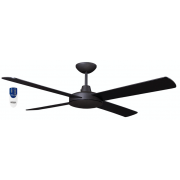 AIR FLIGHT II 120CM MATT BLACK CEILING FAN INCL REMOTE PACKAGE