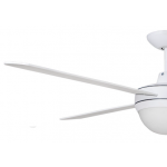 AIR FLIGHT II 130CM MATT WHITE WITH TWO LIGHT CEILING FAN