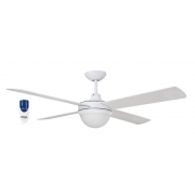 AIR FLIGHT II 130CM MATT WHITE CEILING FAN TWO LIGHT REMOTE PACKAGE