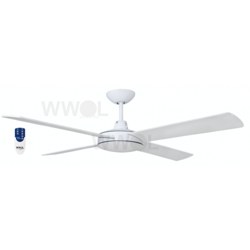 AIR FLIGHT II 130CM MATT WHITE CEILING FAN REMOTE PACKAGE