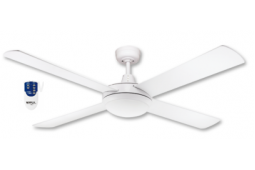 AIR FLIGHT 130CM WHITE CEILING FAN LED LIGHT REMOTE PACKAGE