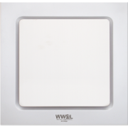 AIR FLUSH 200MM SQUARE EXHAUST FAN WHITE DUCTED