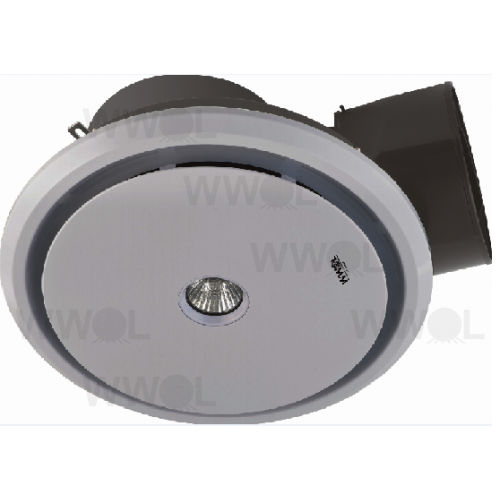 Air Flush 250mm Round Exhaust Fan Amp Light White Ducted