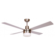 AIR GLIDE II 120CM CEILING FAN AND LIGHT 4 BLADE SILVER