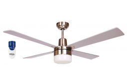 AIR GLIDE II 120CM CEILING FAN LIGHT AND REMOTE BRUSHED NICKEL