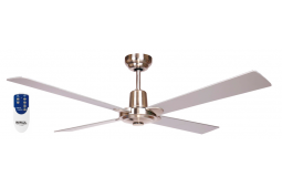 AIR GLIDE II 120CM CEILING FAN 4 BLADE BRUSHED NICKEL INCLUDING REMOTE PACKAGE