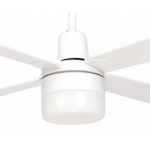 AIR GLIDE II 120CM CEILING FAN AND LIGHT 4 BLADE WHITE