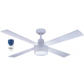 AIR GLIDE 120CM CEILING FAN AND LIGHT REMOTE 4 BLADE WHITE