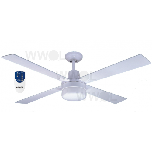 AIR GLIDE II 120CM CEILING FAN AND LIGHT REMOTE 4 BLADE WHITE