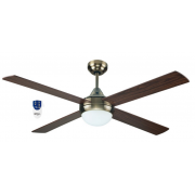 AIR SYNERGY 120CM ANTIQUE BRASS CEILING FAN LIGHT REMOTE PACKAGE