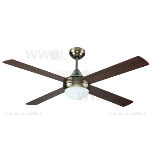 AIR SYNERGY 120CM ANTIQUE BRASS CEILING FAN WITH LIGHT