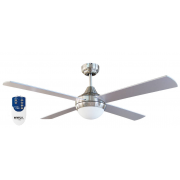 AIR SYNERGY 120CM SILVER CEILING FAN LIGHT REMOTE PACKAGE