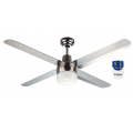 AIR BORNE 4/3 BLADE 120CM STAINLESS FAN LIGHT REMOTE