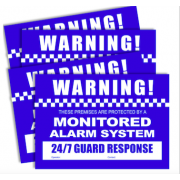 ALARM WARNING STICKERS A4 SIZE (2 X FRONT, 2 X REAR)