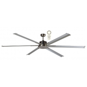 ALBATROSS SIX BLADE DC 182CM BRUSHED NICKEL INCL 5 SPEED REMOTE CEILING FAN