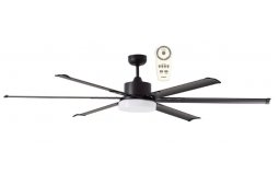 ALBATROSS SIX BLADE DC 182CM MATT BLACK INCL 24W LED TRI COLOUR DIMMABLE LIGHT INCL 5 SPEED REMOTE CEILING FAN
