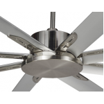 ALBATROSS MINI EIGHT BLADE DC 165CM BRUSHED NICKEL INCL 5 SPEED REMOTE CEILING FAN