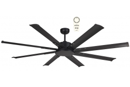 ALBATROSS MINI EIGHT BLADE DC 165CM MATT BLACK INCL 5 SPEED REMOTE CEILING FAN