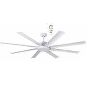 ALBATROSS MINI EIGHT BLADE DC 165CM WHITE INCL 5 SPEED REMOTE CEILING FAN