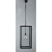 ARCHIE ROSE LARGE BLACK PENDANT