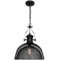 INDUSTRIAL GRID LARGE MESH MATT BLACK PENDANT