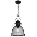 INDUSTRIAL GRID MESH MATT BLACK PENDANT