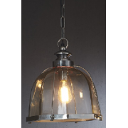 AVERY ANTIQUE SILVER ONE LIGHT PENDANT