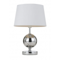 GLASS SPHERE CHROME TABLE LAMP