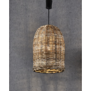 BELL LARGE TIMBER ONE LIGHT RATTAN PENDANT