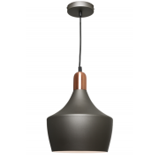 CHARCOAL INCL COPPER HIGHLIGHTS PENDANT