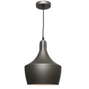 CHARCOAL INCL SATIN CHROME HIGHLIGHTS PENDANT