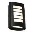 MASK EXTERIOR WALL LIGHT FIVE BAR TEXTURED BLACK
