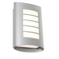 MASK EXTERIOR WALL LIGHT FIVE BAR TEXTURED SILVER