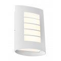 MASK EXTERIOR WALL LIGHT FIVE BAR TEXTURED WHITE