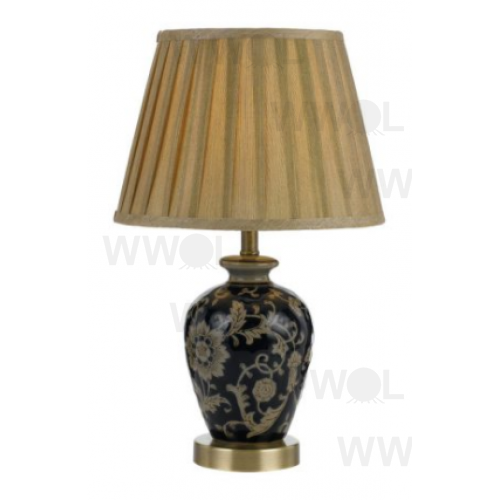 Nature Ceramic Blue And Gold Table Lamp
